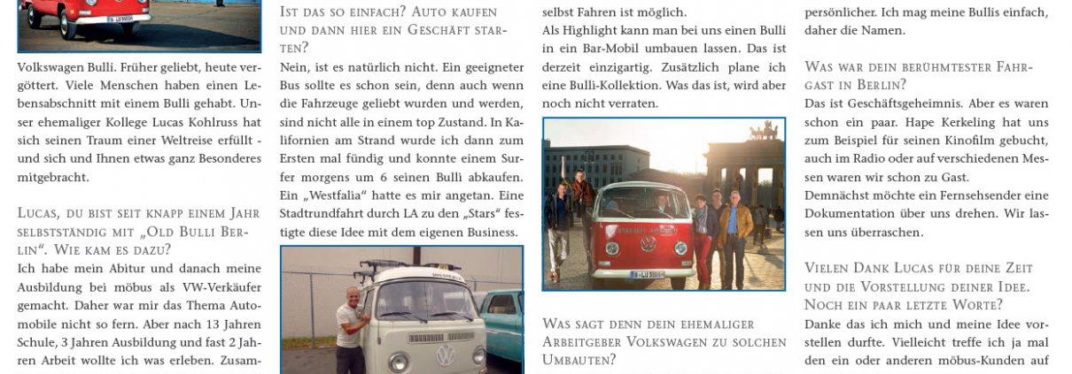Old Bulli Berlin Zeitungsartikel