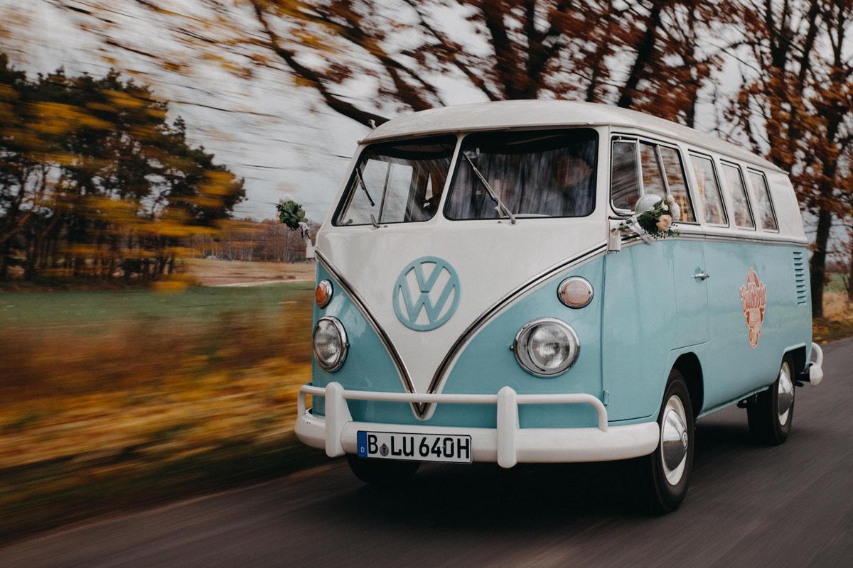 VW T1 Bulli als Hochzeitsauto