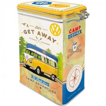 VW Bulli Bus Retro Aromadose Vorratsdose Prägedruck Van Bus Volkswagen Kaffeedose Teedose Geschenk Idee- get away
