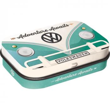 VW-Bulli-Bus-Retro-Pillendoseflach-Praegedruck-Van-Bus-Volkswagen-Bonbons-Kaugummis-Geschenk-Idee-Adventure-Awaits