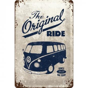 VW T1 Bulli Bus Blechschild Stahlblech Retro-Blech-Schild Prägedruck Metallschild Van Bus Volkswagen - Original Ride