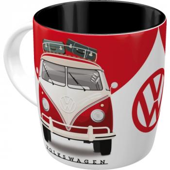 VW T1 Bulli Bus Van Keramik Tasse Kaffetasse Teetasse Becher Glas Picknickgeschirr Kaffee Tee good in shape