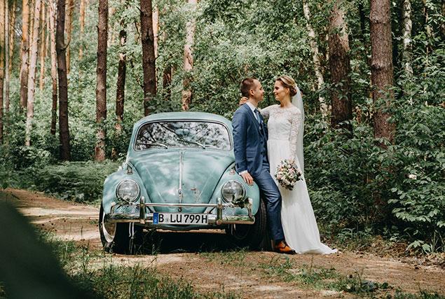 Hochzeitsauto Käfer mieten VW Oldtimer Berlin Brautauto
