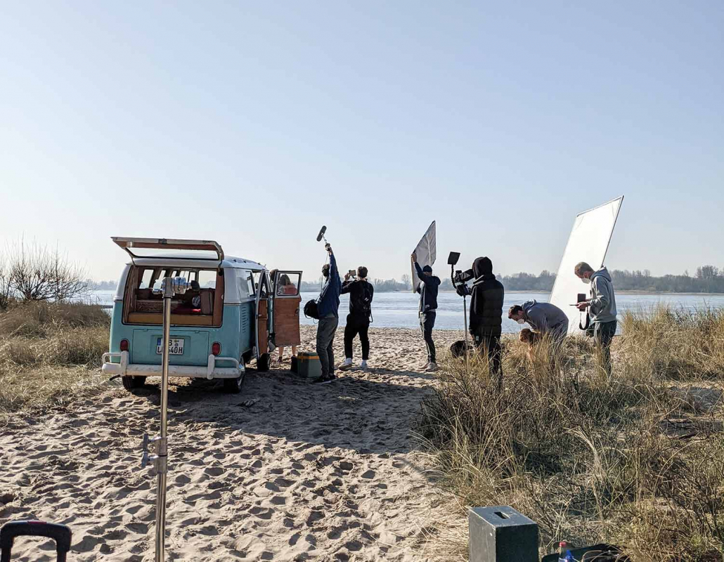 Filmauto Bulli Strand Shooting Parship