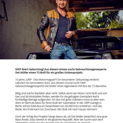 GRIP - Das Motormagazin bei Old Bulli Berlin