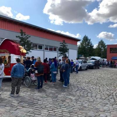Old Bulli Berlin - Spenden sammeln - Kinderhospiz - Fotobulli - VfJ Werstätten